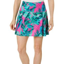 Reel Legends Womens Escapade Elite Rainforest Pleated Skort
