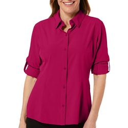 Reel Legends Womens Adventure Solid Long Sleeve Top
