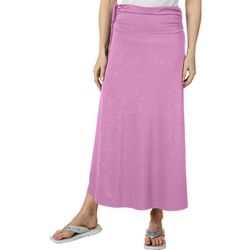 Reel Legends Womens Keep It Cool Crackle Deboss Skirt
