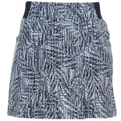 Reel Legends Womens Adventure Sketched Palms Pull On Skort