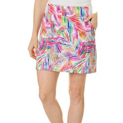 Womens Adventure Jazzy Palms Pull On Skort