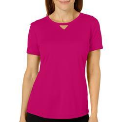 Womens Freeline Solid Keyhole T-Shirt