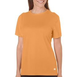Reel Legends Womens Freeline Solid Crew Textured Top
