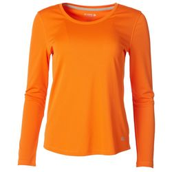 Reel Legends Womens Freeline Solid Scoop Neck Top