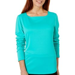 Womenss Freeline Square Neck Long Sleeve Top