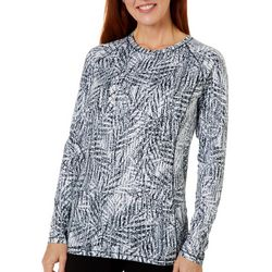 Reel Legends Womens Keep It Cool Textured Palms Packable Top