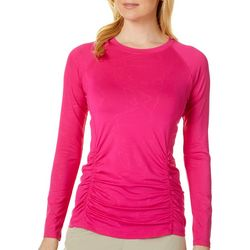 Womens Keep It Cool Long Sleeve Ruched Top