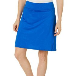 Reel Legends Womens Harbor Crackle Deboss Pull On Skort