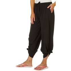 Reel Legends Womens Solid Beach Day Tie Pant