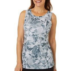 Reel Legends Womens Escapade Marble Splash Tank Top