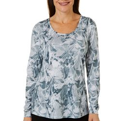 Reel Legends Womens Escapade Marble Splash Long Sleeve Top