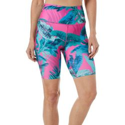 Reel Legends Womens Keep It Cool Colorful Palms Bike Shorts