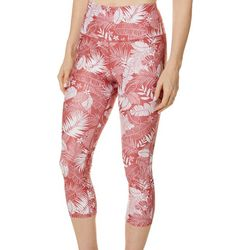 Womens Keep It Cool Tropical Palm Leggings