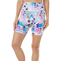 Reel Legends Womens Keep It Cool Orchid Floral Bike Shorts
