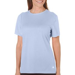 Reel Legends Womens Freeline Solid Round Neck Top