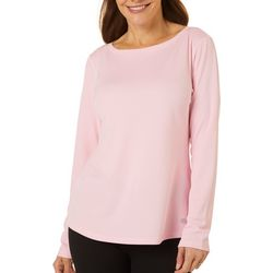 Reel Legends Womens Freeline Solid Long Sleeve Top