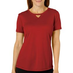 Womens Freeline Solid Keyhole T-Shirt