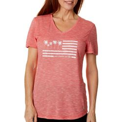 Reel Legends Womens Palms & Stripes T-Shirt