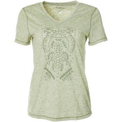 Reel Legends Womens Save The Gulf Turtle V-Neck Top