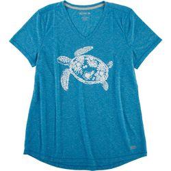 Reel Legends Womens Tropical Turtle Top
