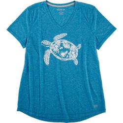 Womens Tropical Turtle Top