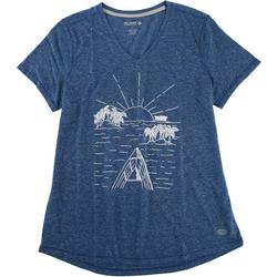 Womens Sketched Sunset Top