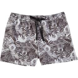 Mens Adventure Floral & Palm Volley Shorts