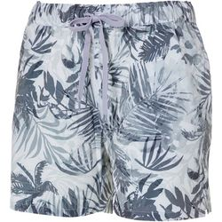 Reel Legends Womens Adventure Grayscale Palms Pull On Shorts