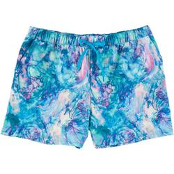 Womens Marbled Pull On Shorts