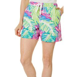 Womens Adventure Sketched Palms Pull On Shorts