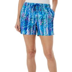 Reel Legends Womens Adventure Rainbow Palm Pull On Shorts