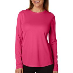 Womens Freeline Solid Crew Neck Long Sleeve Top