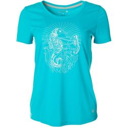 Reel Legends Womens Sketched Seahorse T-Shirt
