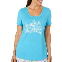 Womens Reel Tropical Floral Print T-Shirt