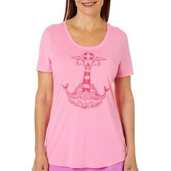 Womens Reel Survivor Lighthouse Print T-Shirt