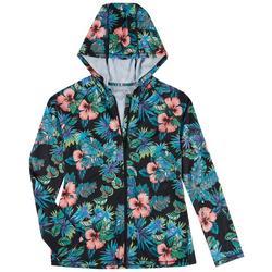 Womens Zip-up Hooded Long Sleeve Aloha Top