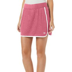 Reel Legends Womens Keep It Cool Palm Deboss Skort