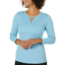 Womens Freeline Ladder Neck Long Sleeve Top