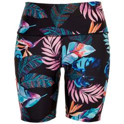 Womens Tribal Foliage Swim Shorts