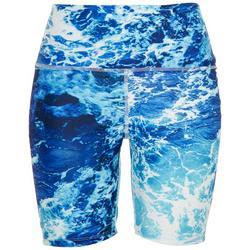 Womens Sea Foam Fitted Swim Shorts