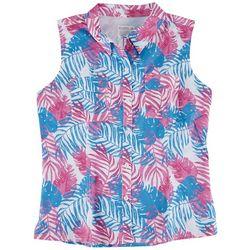 Reel Legends Womens Foliage Mariner Collared Shirt