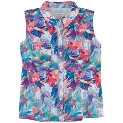 Reel Legends Womens Mariner Tropical Party Shirt