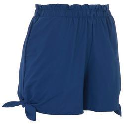 Womens Tie Detail Beach Day Shorts