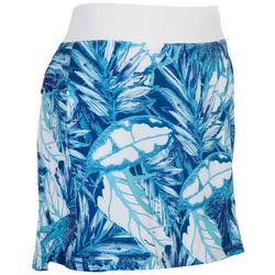 Womens Tropical Cool Foliage Skort