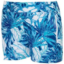 Womens Tropical Zip Pockets Shorts