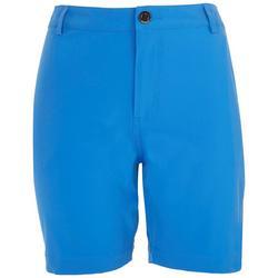 Womens Back Zip Pocket Solid Adventure Shorts