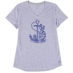 Reel Legends Womens Anchor Heathered T-Shirt