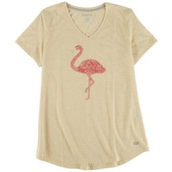 Reel Legends Womens Flamingo Heathered T-Shirt
