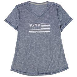 Reel Legends Womens American Flag T-Shirt