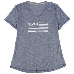 Womens American Flag T-Shirt